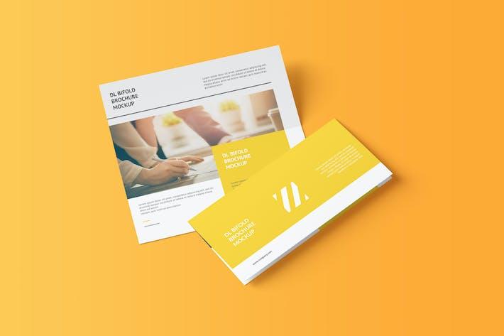 Thumbnail for DL Bifold Brochure Mockup