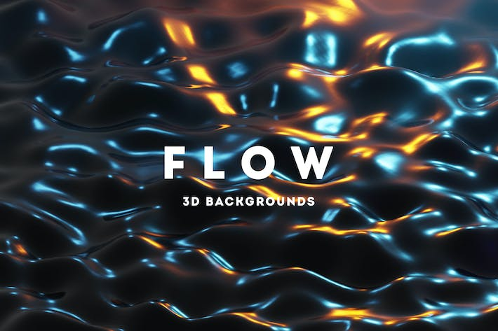 Thumbnail for Flow - 25 Liquid 3D Backgrounds
