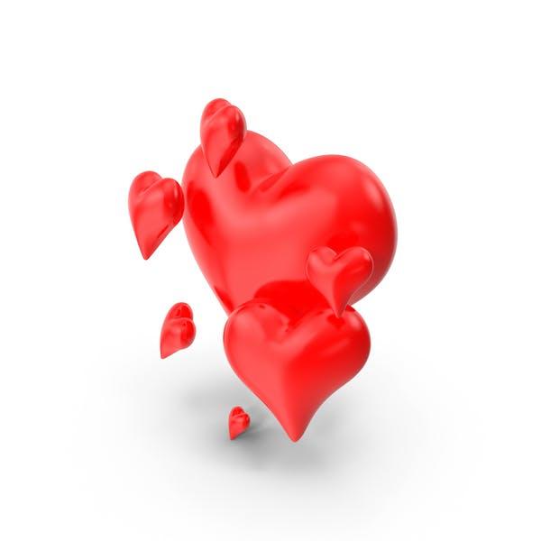 Glossy Valentine Hearts