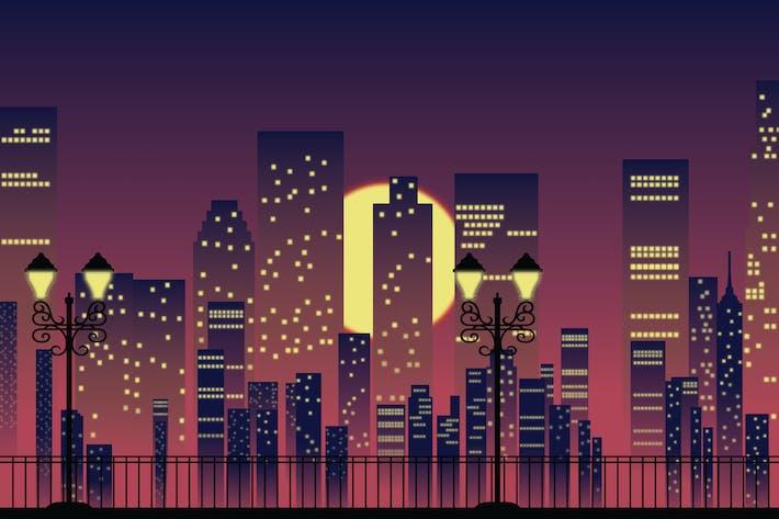 Thumbnail for Night city - Vector Illustration