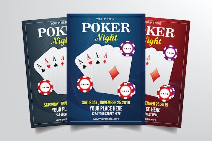 Thumbnail for Poker Night Flyer Template