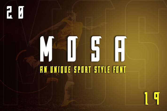 Thumbnail for Mosa Exclusive Display Font