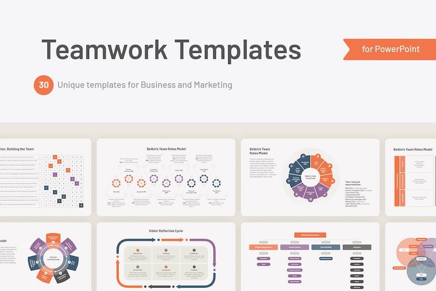 Teamwork Powerpoint Templates, Models, Strategies