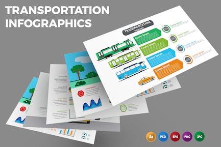 Transport — Infografiken Design