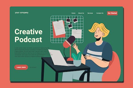 Podcasting - Landing Page
