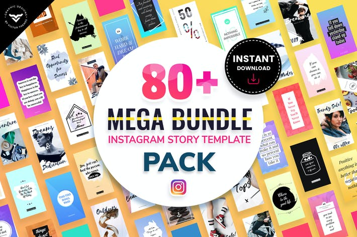 Thumbnail for Mega Bundle Instagram Stories Template