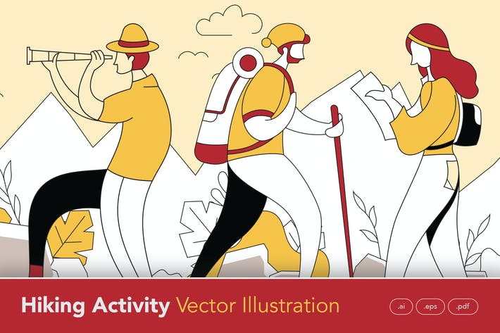 Thumbnail for Hiking Activity Vector Illustration