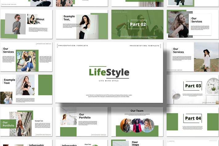 Thumbnail for Life Style - Keynote Template