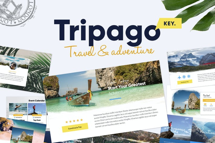 Cover Image For TRIPAGO - Travel Business Keynote Template