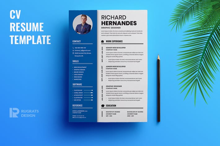 Thumbnail for Minimalist CV  Resume R32 Template