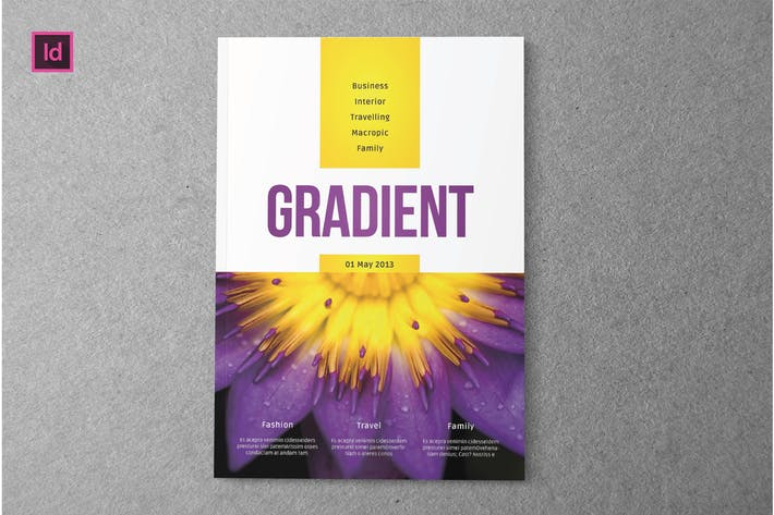Thumbnail for GRADIENT - Magazine Template
