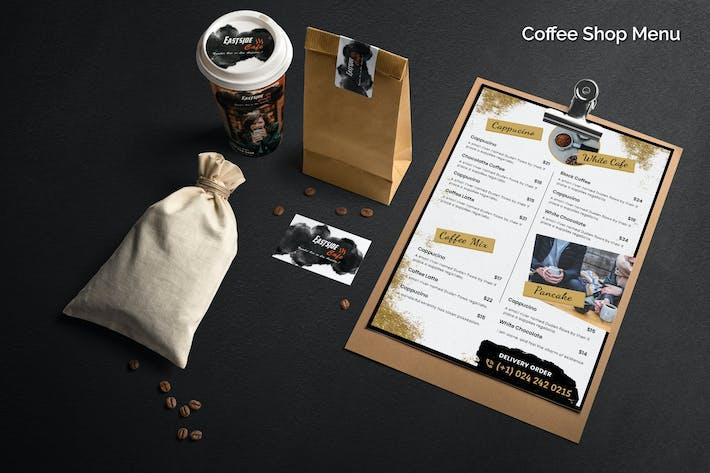 Thumbnail for Coffee Shop Menü-Vorlage
