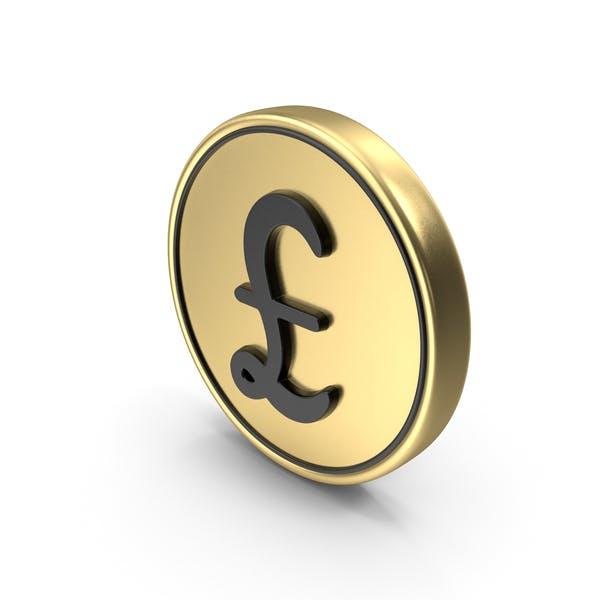 Pound Coin Logo Icon