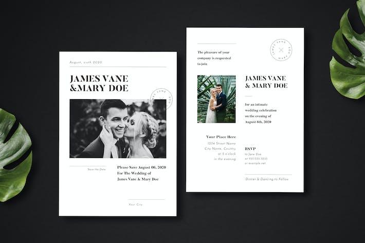 Thumbnail for Simple Wedding Invitation 02