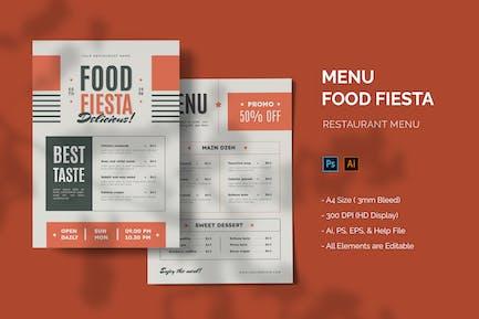 Food Fiesta - Restaurant Menu