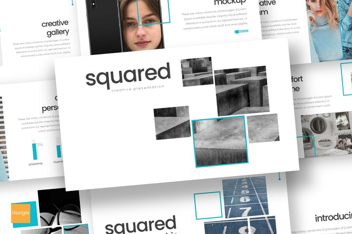 Thumbnail for Squared - Google Slides Template