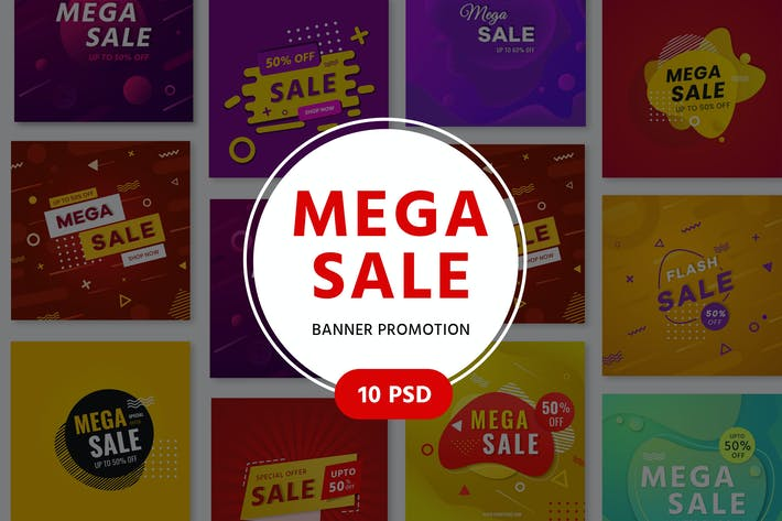 Thumbnail for Mega Sale Promotion Banners