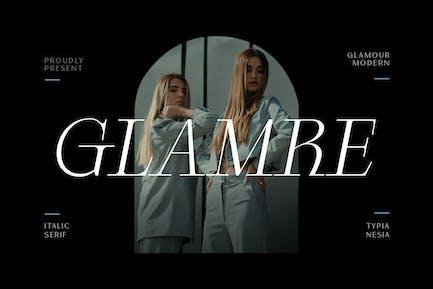 Glamre - Elegant Modern Glamour Italic Serif