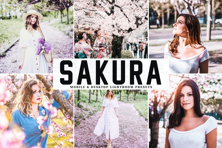 Thumbnail for Sakura Mobile & Desktop Lightroom Presets