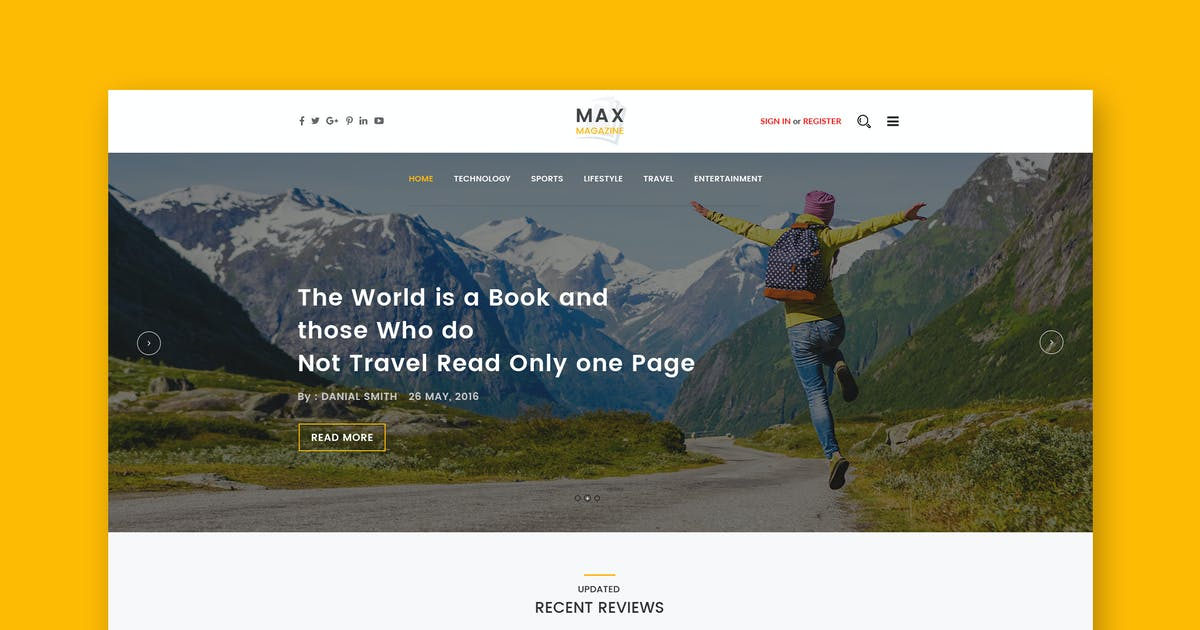 Download Max Magazine - News & Blog HTML Template by ThemeWisdom
