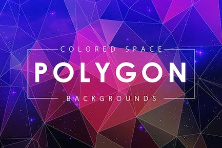 Colorful Space Polygon Backgrounds