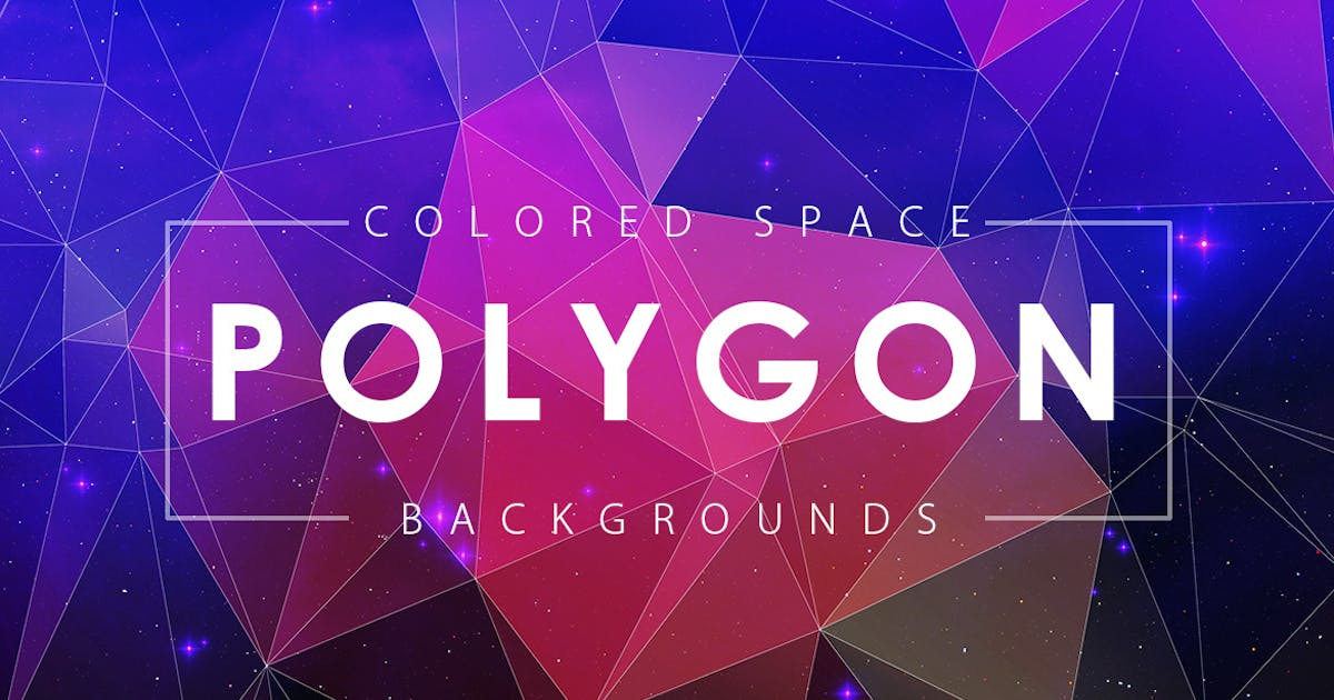 Download Colorful Space Polygon Backgrounds by M-e-f