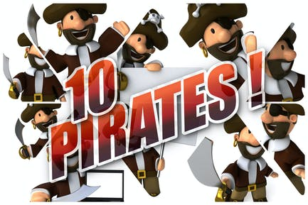 10 lustige Piraten!