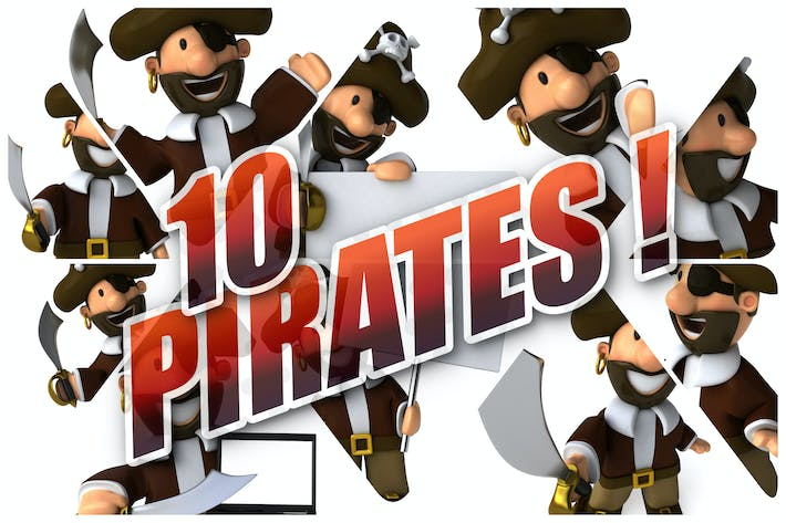 Thumbnail for 10 fun Pirates !