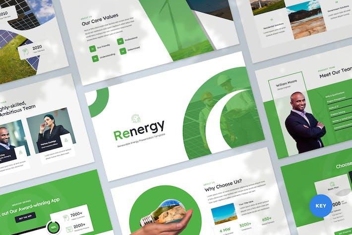 Thumbnail for Renewable Energy Keynote Presentation Template
