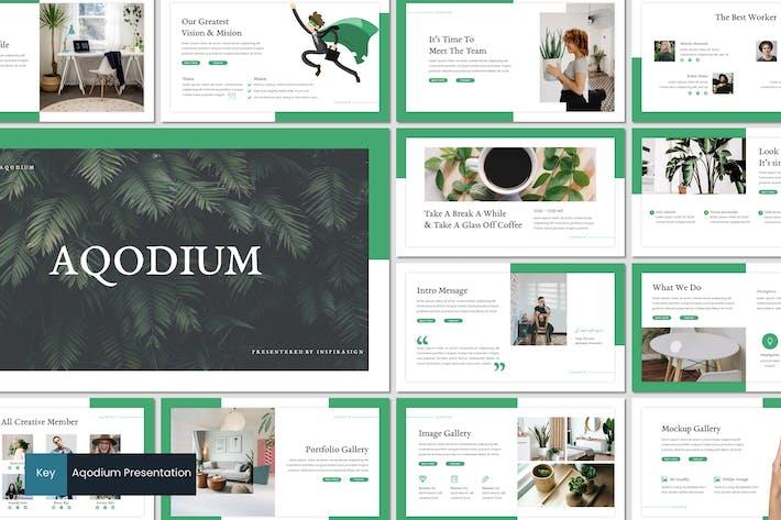 Thumbnail for Aqodium - Keynote Template
