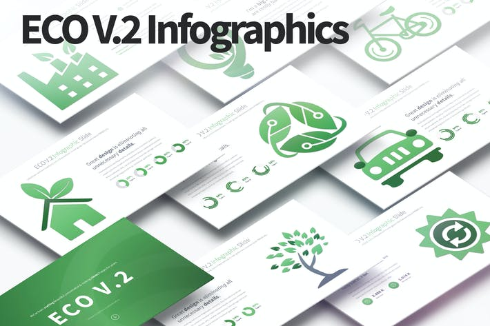 Thumbnail for ECO V.2 - PowerPoint Infographics Slides