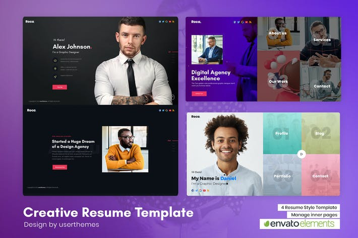 Thumbnail for Rosa - Creative Personal CV/Resume PSD Template