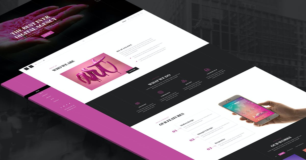 Download Musse - One Page Portfolio, Agency HTML Template by UnionAgency