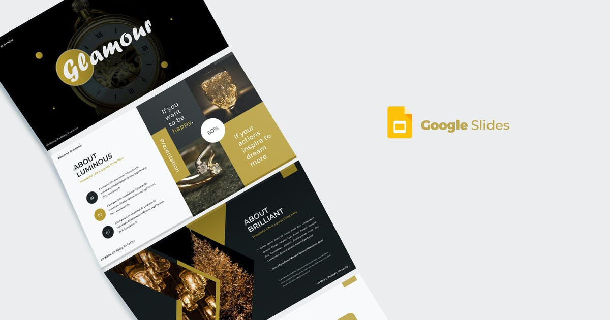 Download Glamour - Google Slides Template by aqrstudio