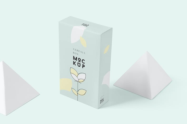 Thumbnail for Cereals Box Mockup - Slim Size Box