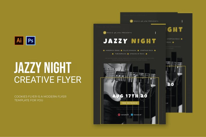 Thumbnail for Jazzy Night - Flyer