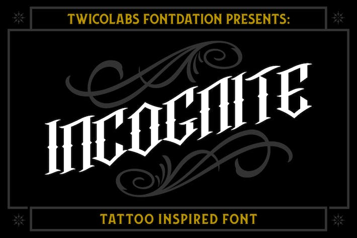 Cover Image For Incognite Tattoo Font