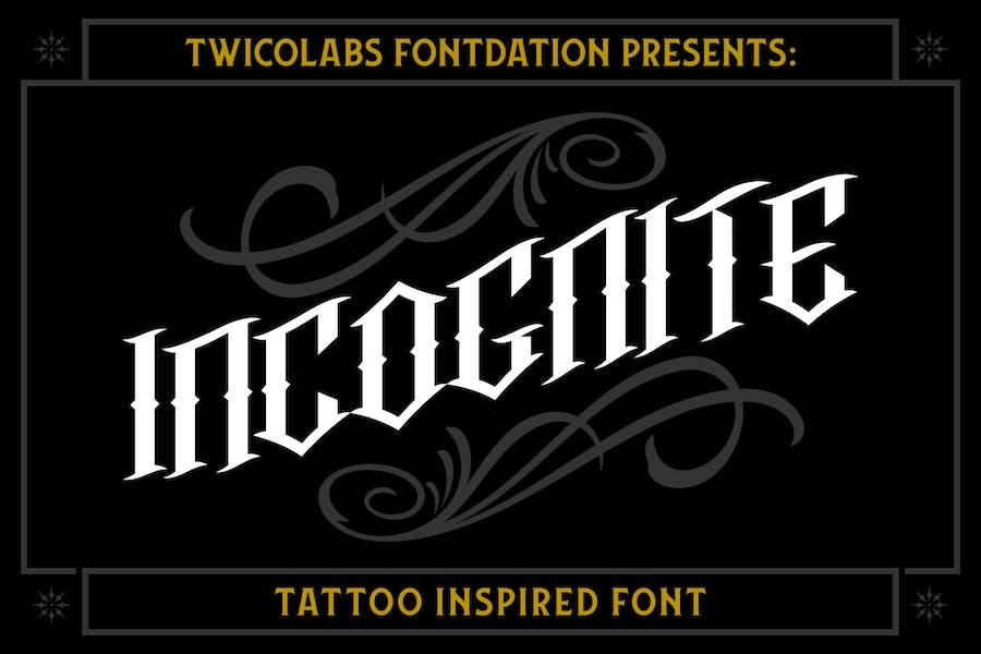 Incognite Tattoo Font