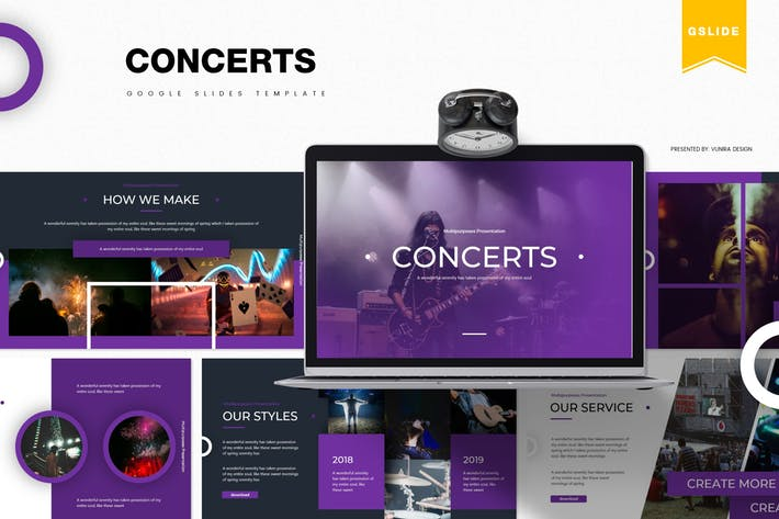 Thumbnail for Concerts | Google Slides Template
