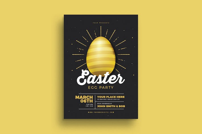 Cover Image For Easter Gold Party Flyer