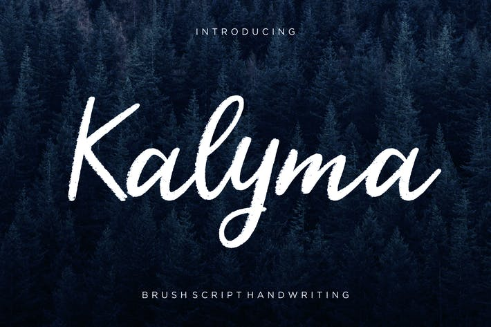 Thumbnail for Kalyma Brush Script
