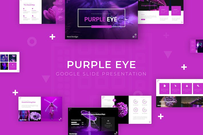 Thumbnail for Purple Eye - Google Slide Template