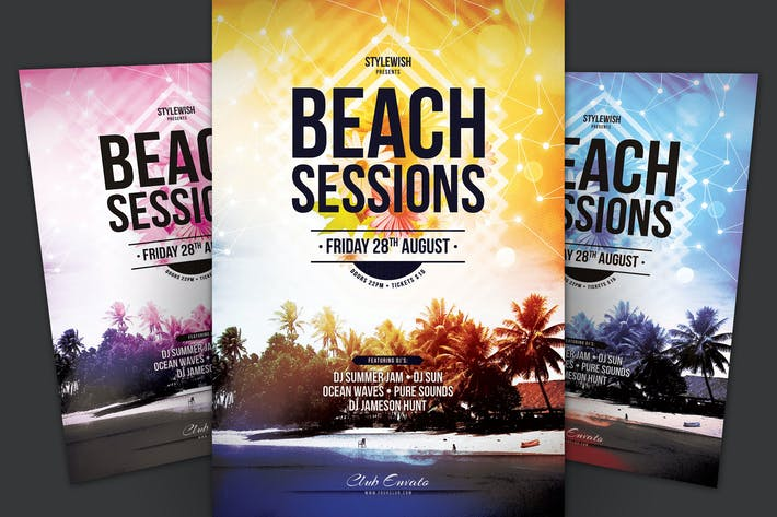 Thumbnail for Beach Sessions Flyer