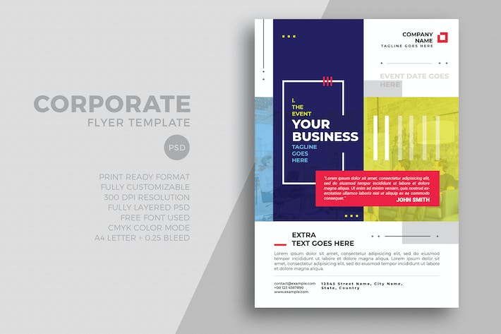 Thumbnail for Minimal Corporate Flyer Template