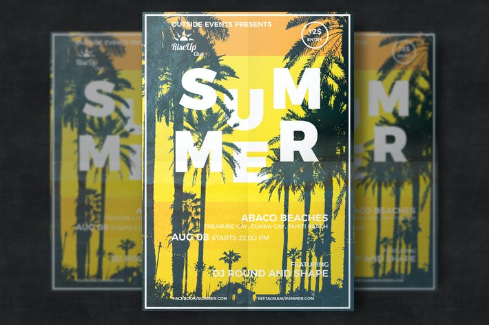 Cover Image For Creative tropical summer flyer
