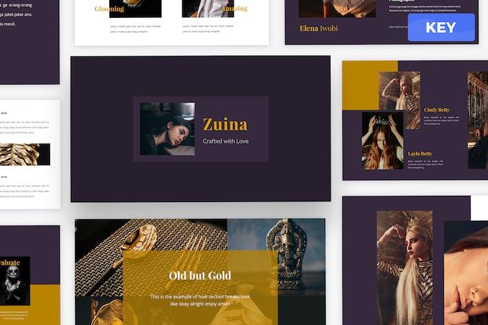 Zuina - Keynote шаблон презентации