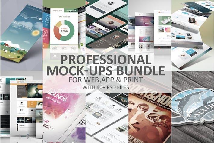 Thumbnail for Professional Mock-Ups Bundle