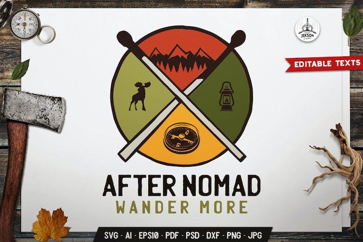 Thumbnail for Wanderlust Emblem Logo SVG. Travel Camping Badge
