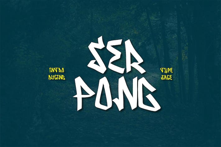 Thumbnail for Serpong Typeface