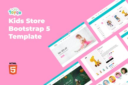 Toyqo - Kids Store Bootstrap 5 Template